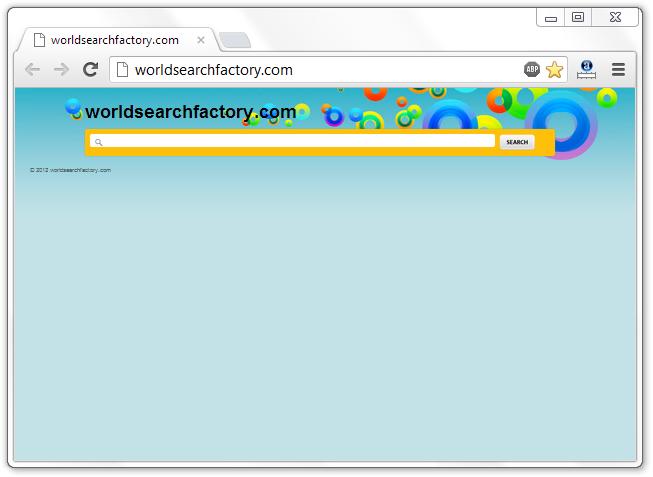 Worldsearchfactory.com Home Page Hijacker