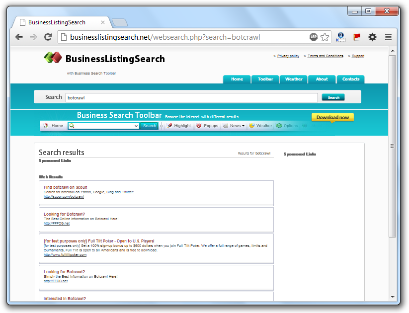 BusinessListingSearch.net Redirection Virus