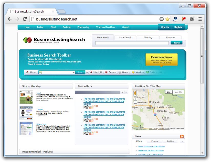 BusinessListingSearch.net Virus