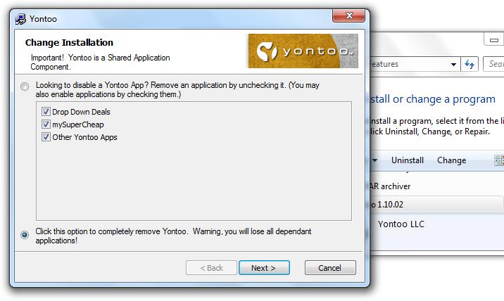 Remove Yontoo Malware