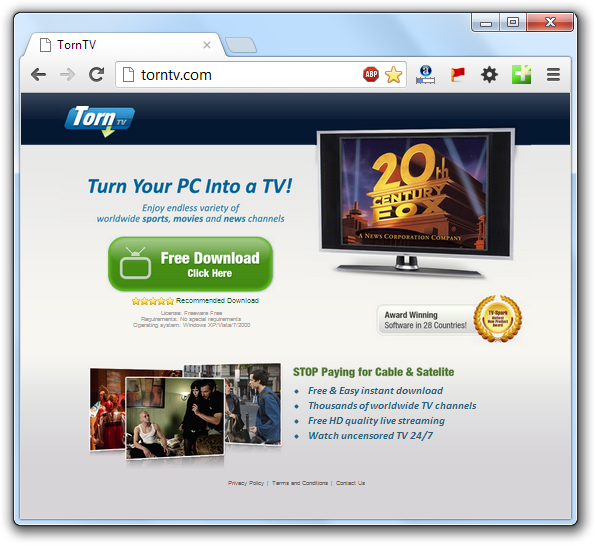 How to remove TornTV (Virus Removal Guide) - Botcrawl