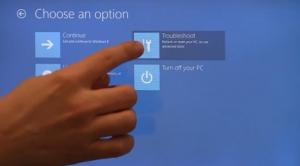 Troubleshoot (Windows 8)
