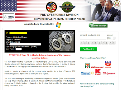FBI Cyber Crime Division Virus Removal