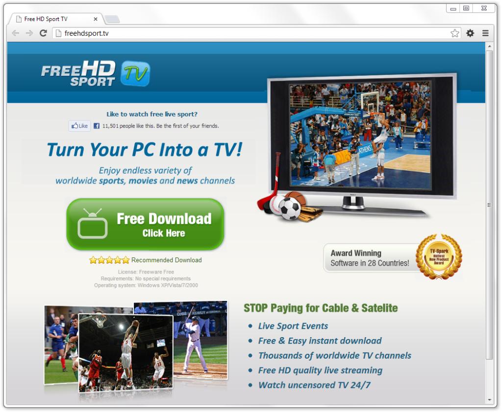 Remove Free HD Sports TV