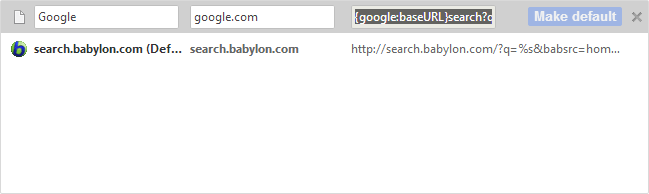 Remove Babylon Search Engine