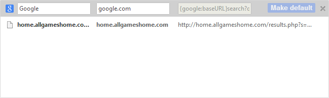 Remove Allgameshome Search Malware
