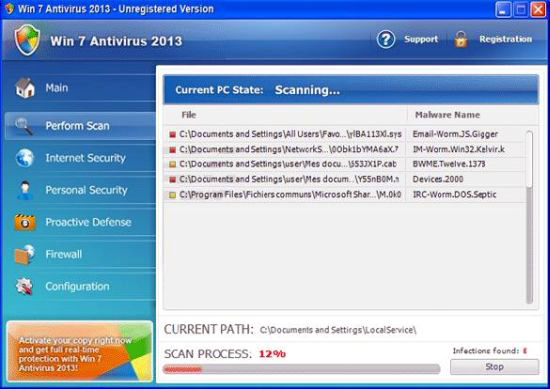 Remove Win Antivirus 2013