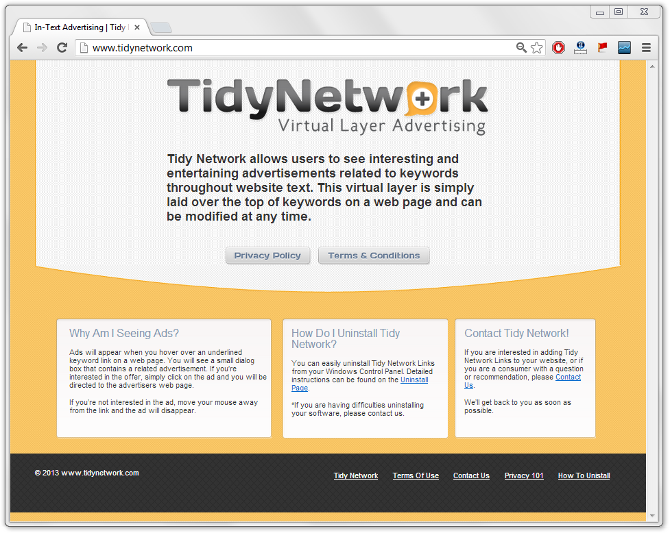 TidyNetwork Virus