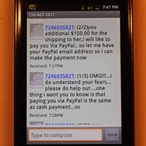 724-603-5821 Craigslist Scam
