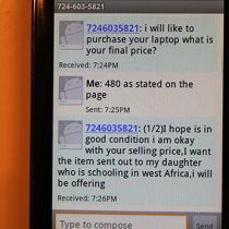 724 603 5821 Scam Text