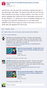 Dr. Oz Facebook Spam Comment