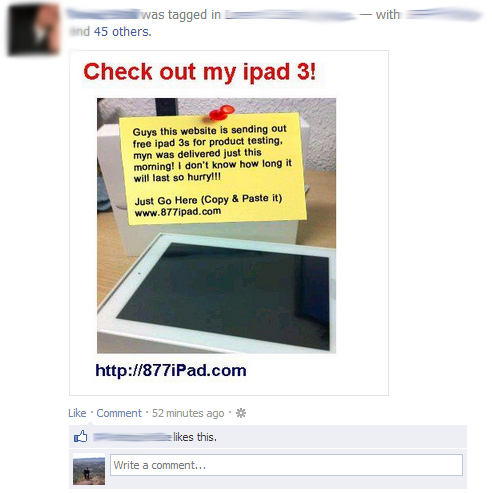 Check out my ipad 3 Facebook scam 877ipad