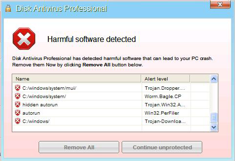 Disk Antivirus Professional Virus Removal