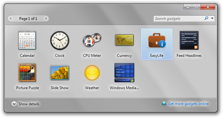 EasyLife Gadget Malware Desktop
