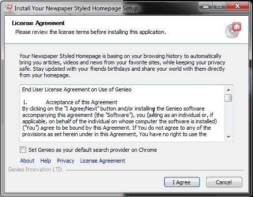 Genieo homepage hijacker