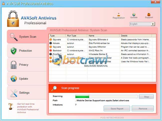 Remove AVASoft Antivirus Professional Virus