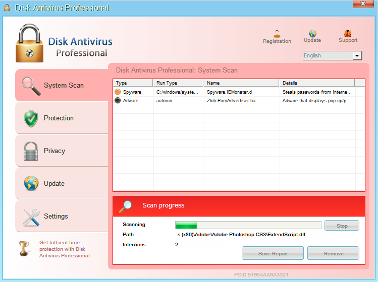 Remove Disk Antivirus Professional Virus