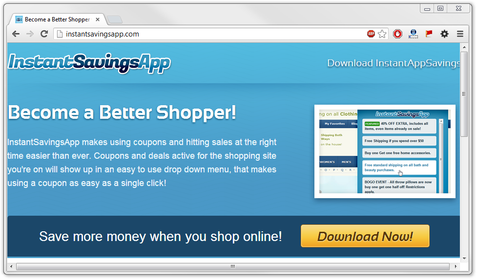 Remove Instant Savings App Virus