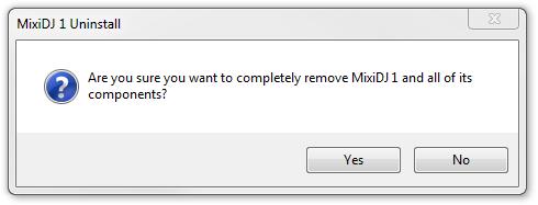 Remove MixiDJ 1