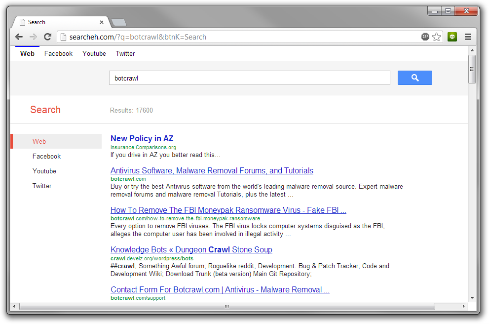 Searcheh.com Redirect Virus