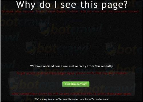 Why do I see this page virus
