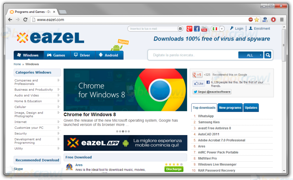 Eazel malware downloads