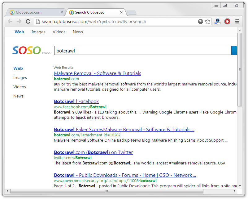 Globososo.com redirect