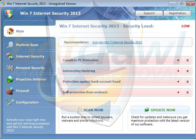 Remove Win 7 Internet Security 2013