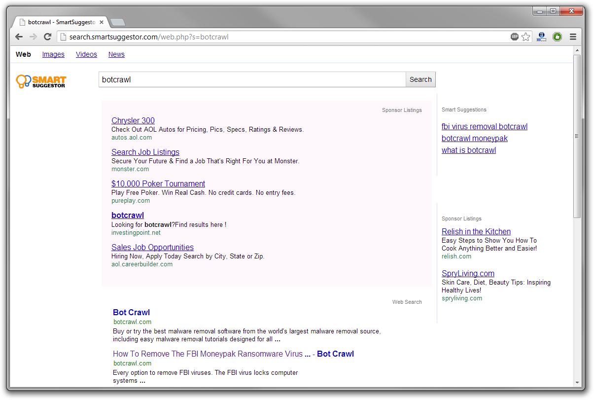 Search.Smartsuggestor.com redirect virus