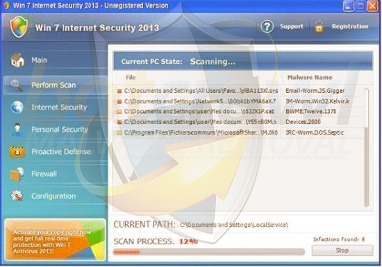 Win Internet Security 2013 malware remove