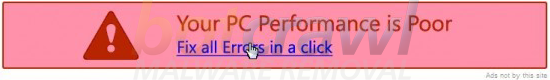 Your PC Performance is Poor ad banner