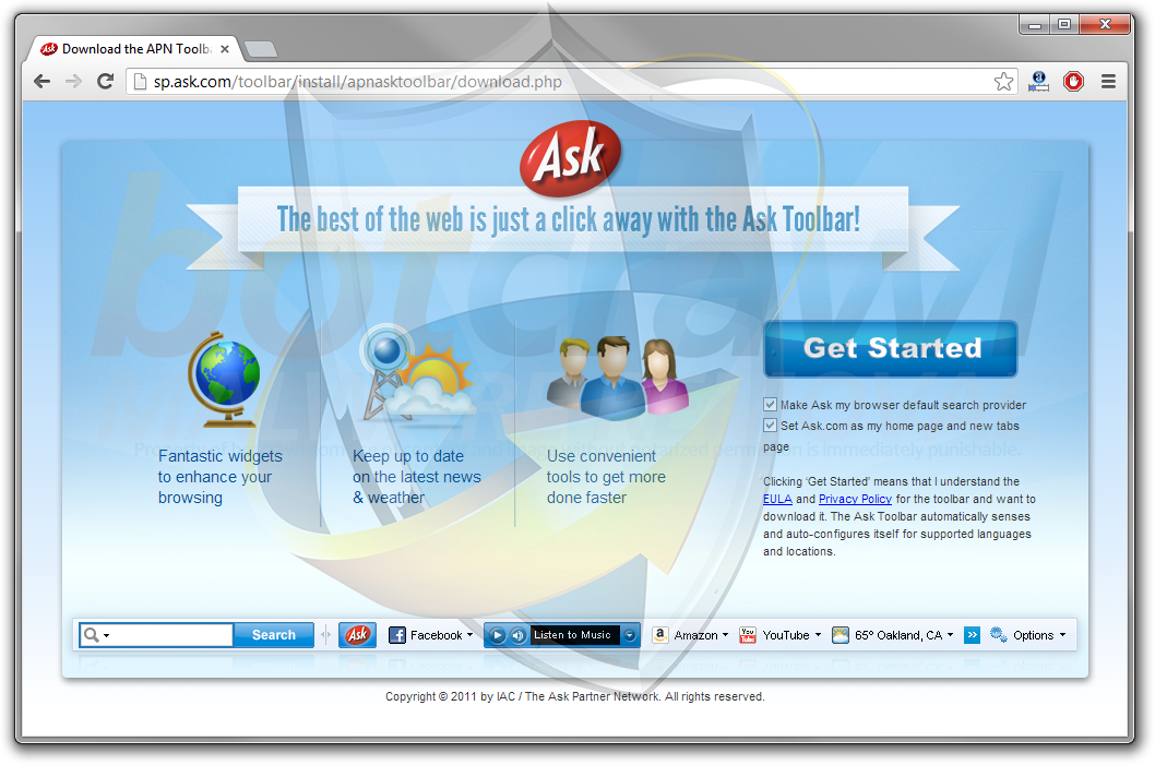 Ask Toolbar virus