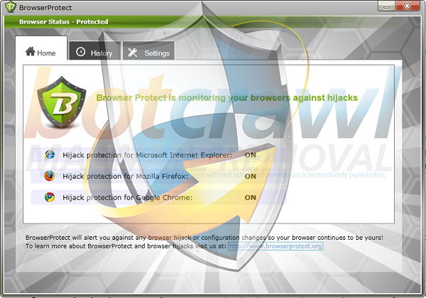 BrowserProtect virus removal