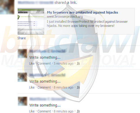 Browserprotect Facebook scam hijack