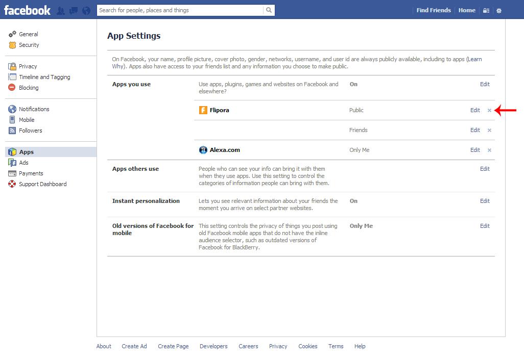 Facebook Flipora removal