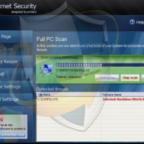 Fake Internet Security virus removal