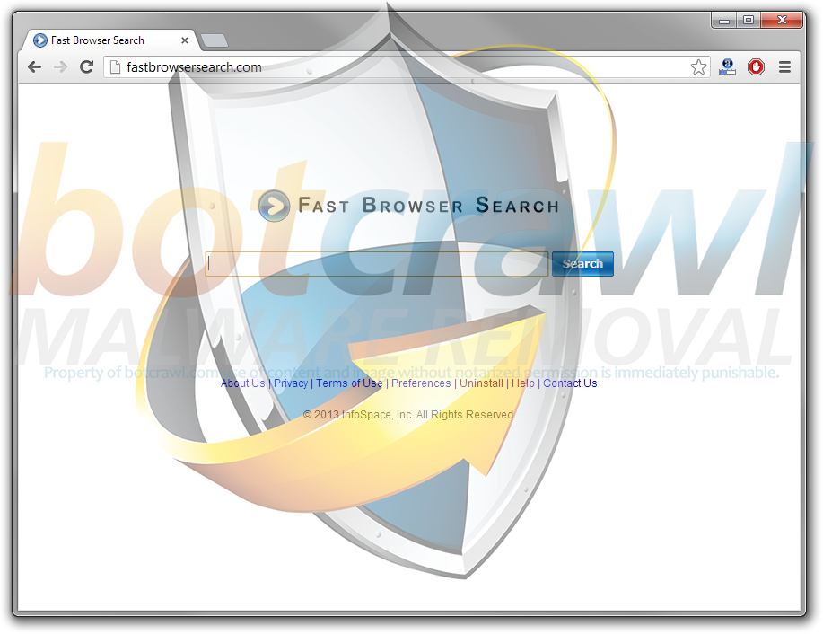 Fast Browser Search virus removal