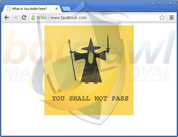 You shall not pass virus removal