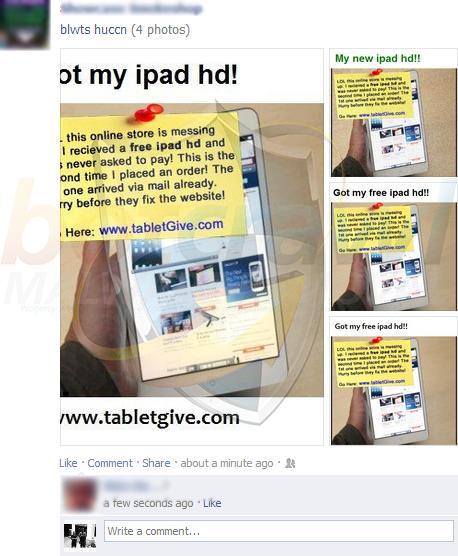 fake ipad facebook scams