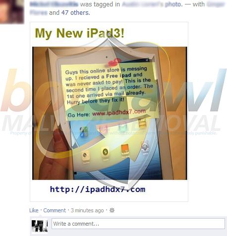 ipadhdx7.com (Free iPad Facebook Scam)