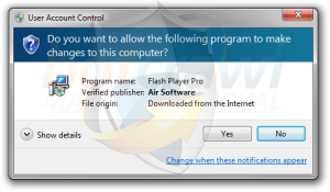 Flash Player Pro malware