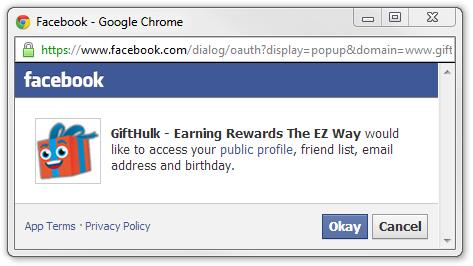 GiftHulk access public profile