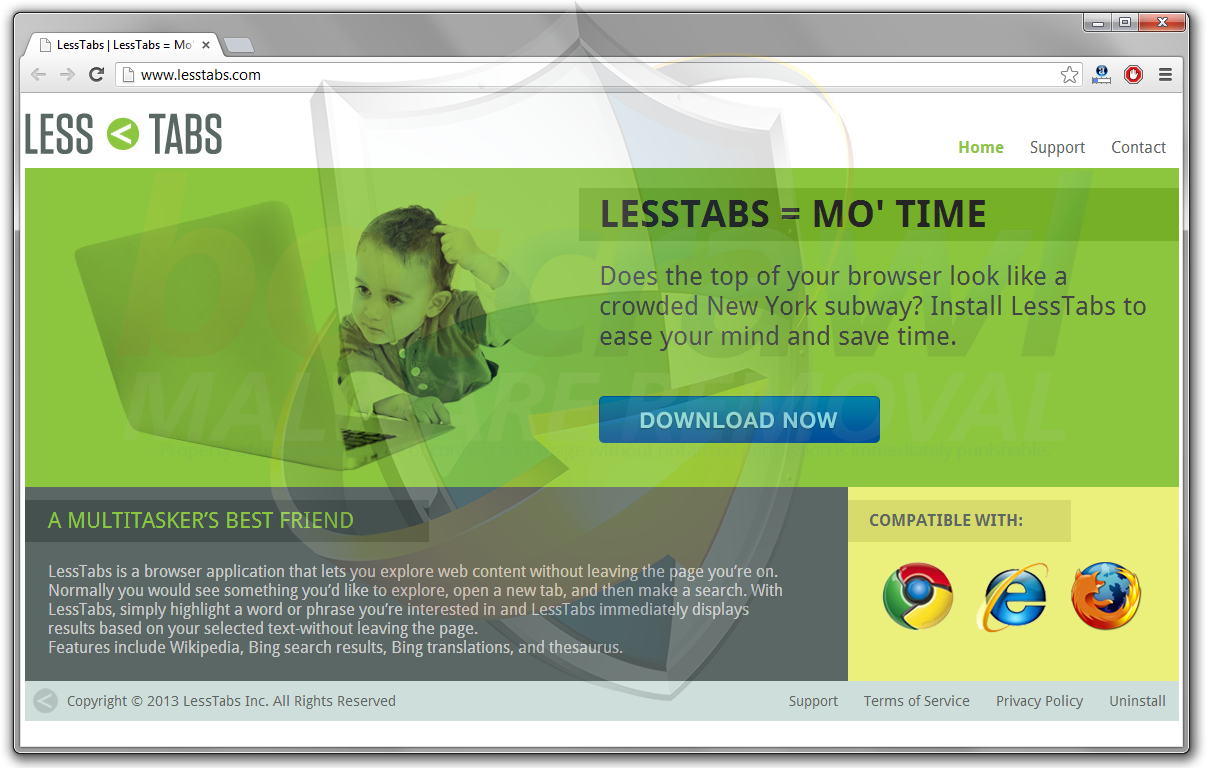 Less Tabs virus