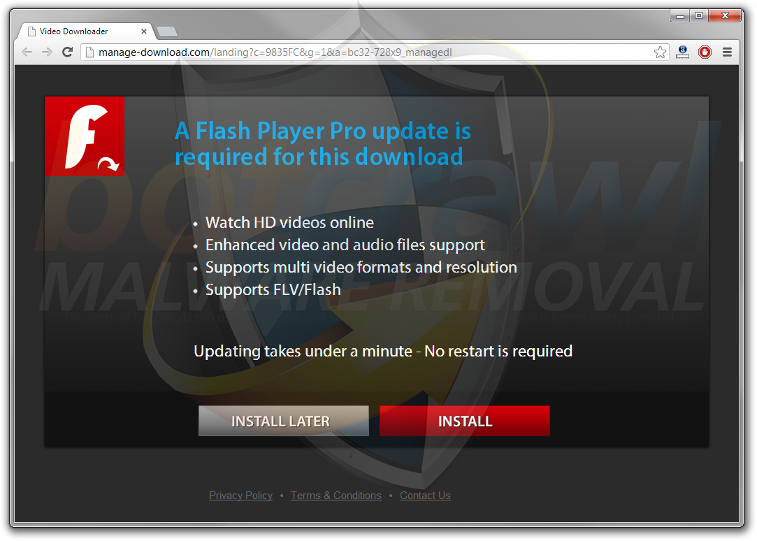 remove Flash Player Pro malware