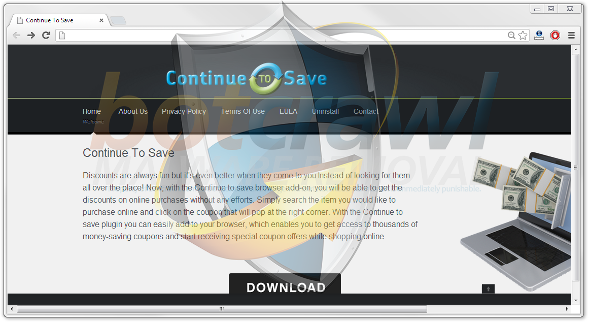 remove continue to save virus