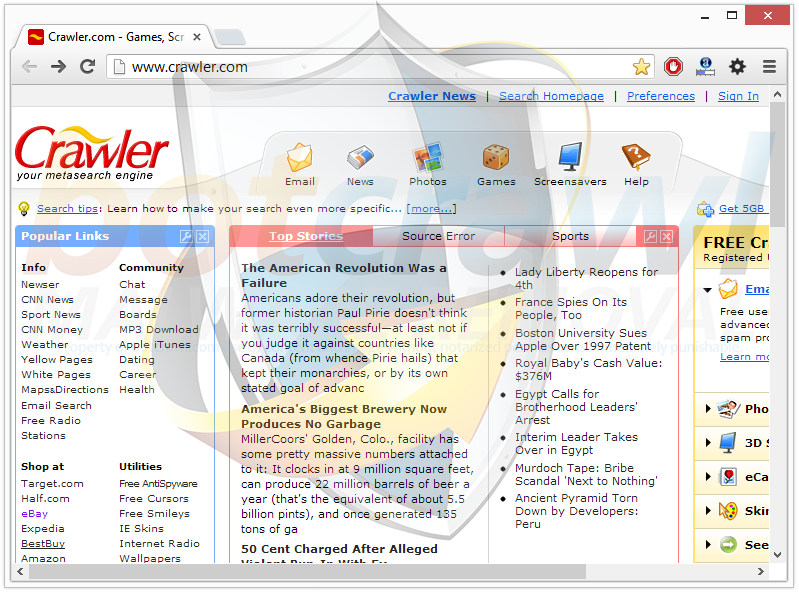 Crawler.com Search Engine