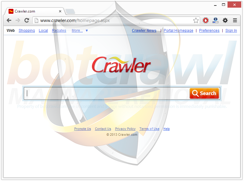 Crawler Toolbar removal