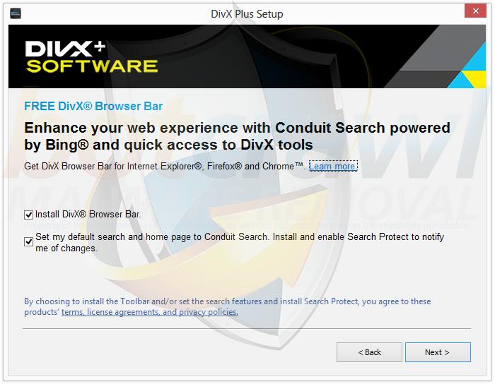 DivX Browser Bar malware