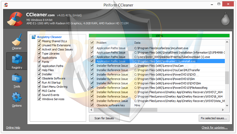 Entrusted11 CCleaner removal