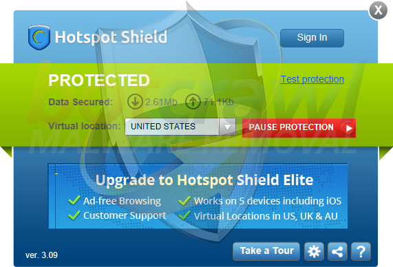 HotspotShield malware
